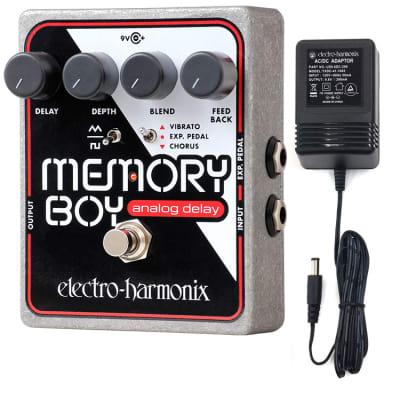 Electro-Harmonix Memory Boy  Analog Delay with Chorus/Vibrato Effects Pedal with Power Supply