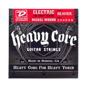 Dunlop DHCN1150 Heavier Core Nickel-Plated Steel Electric Guitar Strings (11-50)
