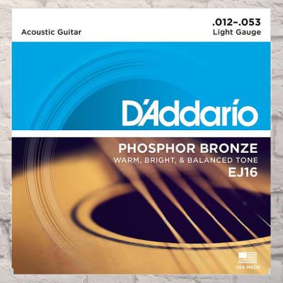 D'Addario EJ16 Light Phosphor Bronze Acoustic Strings 12-53