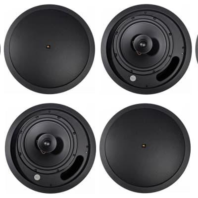 """(6) JBL Control 18C/T-BK 8"""" 70v Commercial Black Ceiling Speakers For Restaurant"""