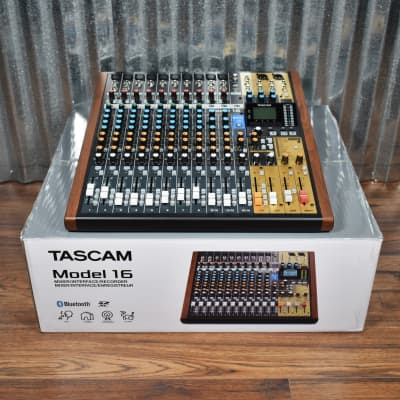 Tascam Model 16 Mixer USB Audio Interface Recorder Controller