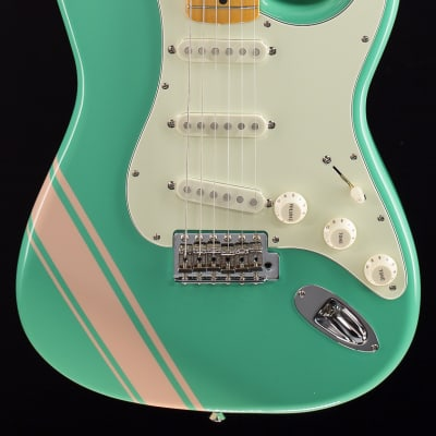 Fender FSR Traditional 50's Stratocaster Surf Green with Shell Pink Stripes (410) for sale