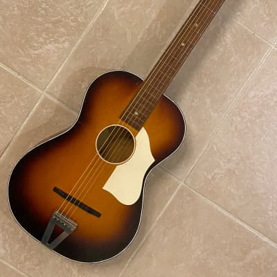 Cameo Vintage  Parlor Acoustic Guitar - Made in Holland 1960's Brown Burst Short Scale for sale