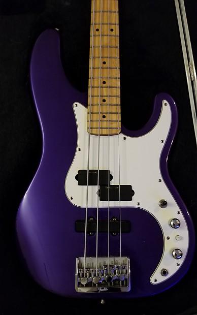 Fine Line Auto >> Fender Precision Bass Plus RARE Purple Sparkle with hard ...
