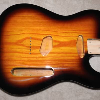 Mighty Mite MM2705AF-2TS Swamp Ash Tele Body 2 Tone Sunburst Thin Poly Finish NOS #1