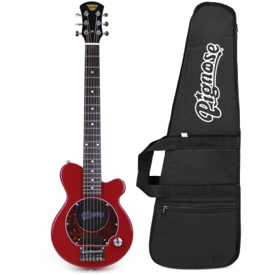 Pignose PGG-200RD Mini Electric Guitar w/ Built-In Amp and Padded Gig Bag, Candy Apply Red for sale