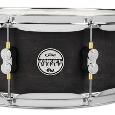 """PDP PDP PDSN5513BWCR Concept Black Wax Maple Snare 5.5"""" x 13"""""""