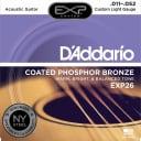 D'Addario EXP26 Coated Phosphor Bronze Custom Light Acoustic Guitar Strings