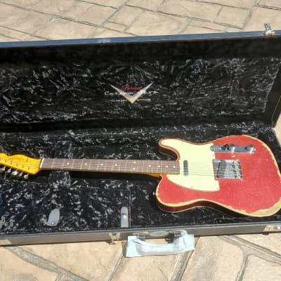 Fender Custom Shop Dealer Select Wildwood 10 '62 Telecaster Relic Red Sparkle for sale