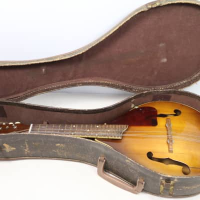 Harmony H8017 Monterey Mandolin Tobacco Sunburst Vintage Solid Spruce Top with Case-1960's AS-IS for sale