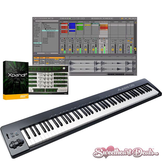 alesis q88 88 key usb midi semi weighted keyboard controller reverb. Black Bedroom Furniture Sets. Home Design Ideas