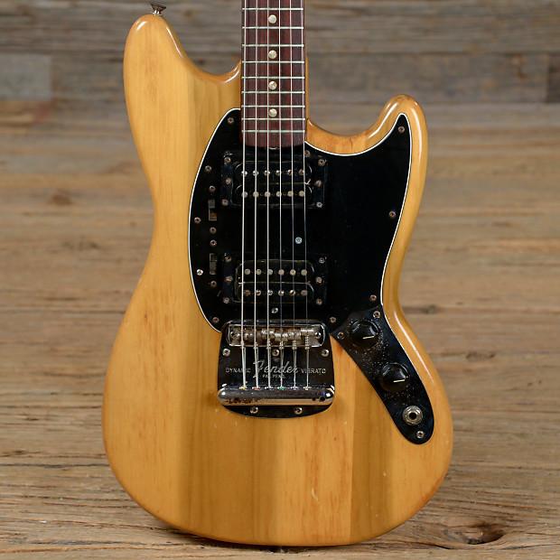 Fender Mustang Natural Refin W   T Top Humbuckers 1967