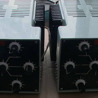 the pair (2pcs) Formanta Esko 100 USSR Amplifiers- polivoks's sons and Heads's Guitar-my home demo