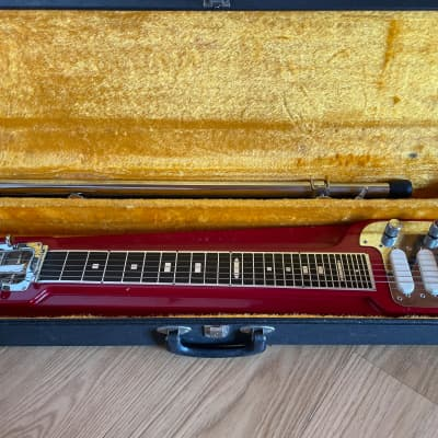 Rare 1970s Jedson Deluxe 6 Lap Steel Red - David Gilmour for sale