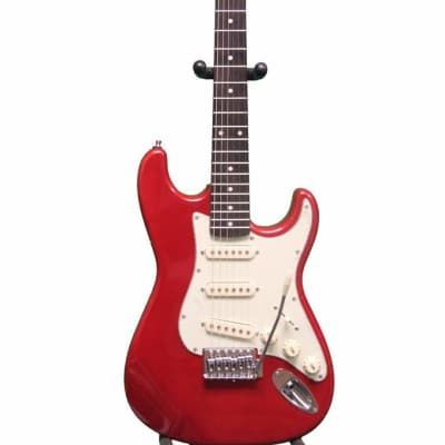 Oscar Schmidt 3/4 Size Electric Guitar, Tremelo, Metallic Red OS-30-MRD for sale