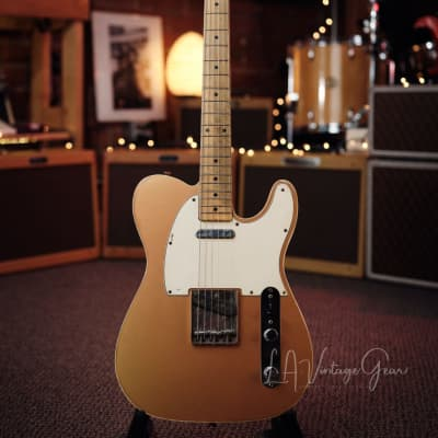 Danocaster Double Bound Single Cut Electric Guitar - in a Faded Out Candy Apple Finish! for sale