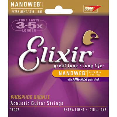 Elixir 16002 Acoustic Phosphor Bronze With Nanoweb Coating