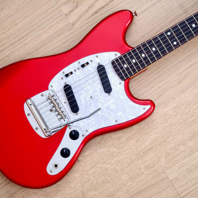 2010 Fender Mustang '69 Vintage Reissue Guitar Candy Apple Red MG69 Japan MIJ for sale