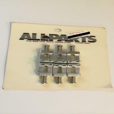Allparts BP 015 Set of Solid Metal Satin Bridge Saddles