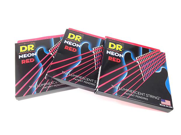dr strings guitar strings 3 pack electric neon red 09 42 reverb. Black Bedroom Furniture Sets. Home Design Ideas