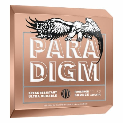 Ernie Ball P02078 Paradigm Light Phosphor Bronze Acoustic Guitar Strings (11-52)