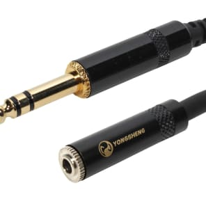 """SuperFlex GOLD SFP-115T3.5MM 1/4"""" TRS to 3.5mm Female Headphone Extension Cable - 15'"""