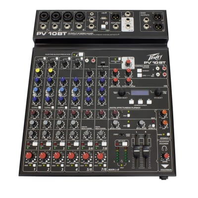 Peavey PV 10 BT 10 Channel Mixer with Bluetooth
