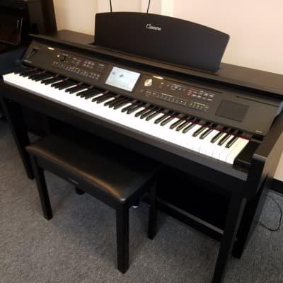 Yamaha Clavinova CVP-705 Digital Piano Matte Black  Walnut  CVP805 Predecessor W/bench