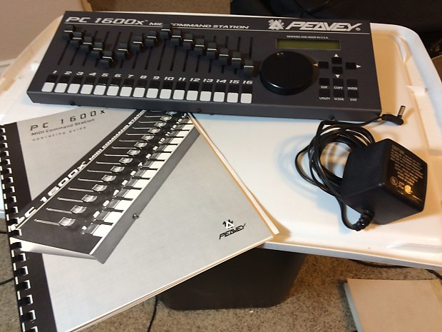 Peavy PC 1600x MIDI Controller | Curved Light Solutions