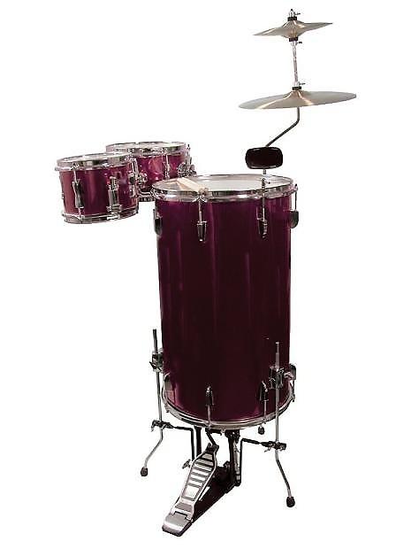 gp percussion cocktail drum set whine red model gp75wr reverb. Black Bedroom Furniture Sets. Home Design Ideas
