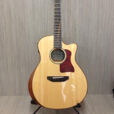 Caraya A-2016CEQ-AR-SITKA Solid Spruce Top,Full Jumbo Acoustic Guitar,Cutaway,EQ+Free Bag for sale