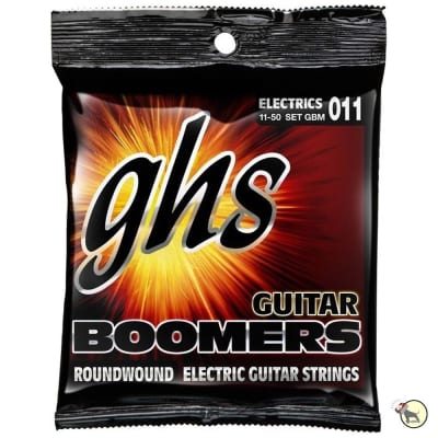 GHS GBM Boomers Medium Electric Guitar Strings (11-50)
