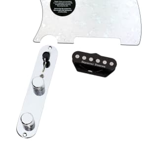 920D Custom Shop 11208-14+T3W-WP-LH Seymour Duncan Quarter Pounder Loaded Tele Pickguard w/ 3-Way Switching (Left-Handed)