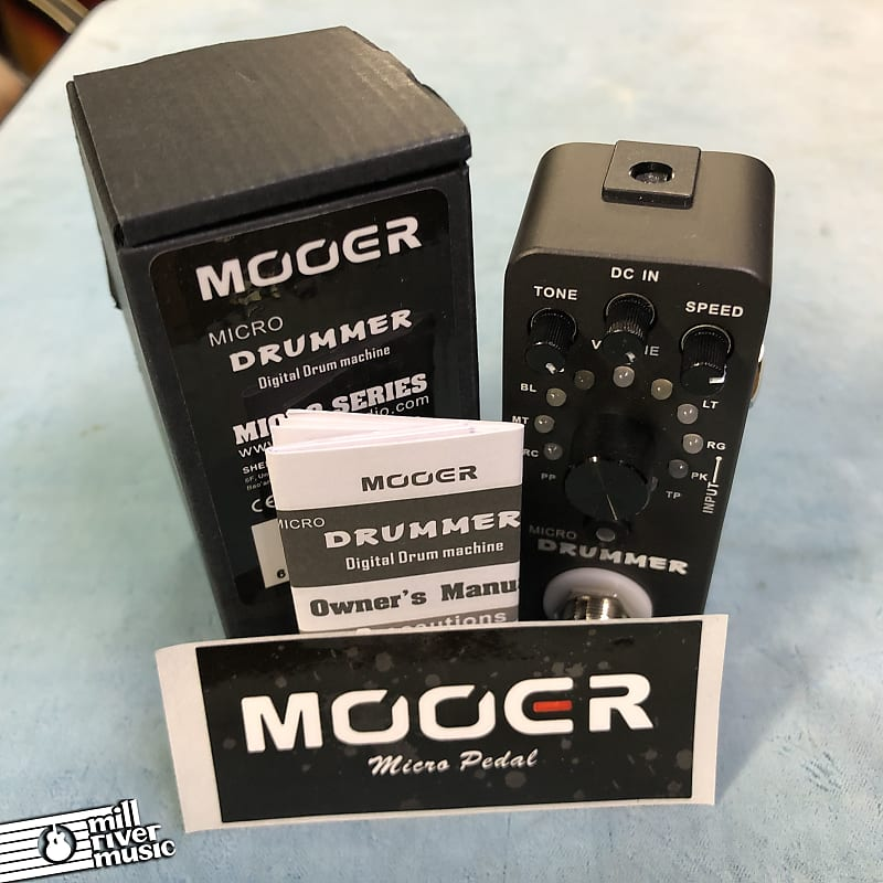 Mooer Micro Drummer Digital Drum Machine Pedal w/ Box