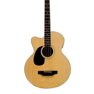 Beaver Creek BCB05LCE Acoustic/Electric Bass Cutaway Left-Handed Guitar for sale
