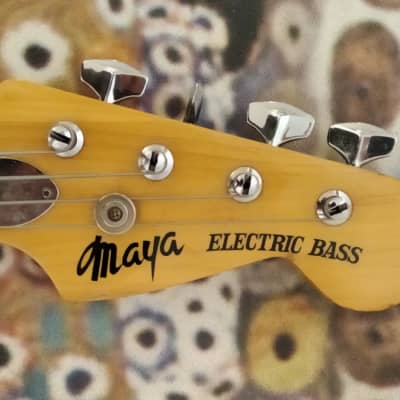 Maya Precision Electric Bass PJ ( Greco, Tokai, Ibanez, Lawsuit, Matsumoku) 1974 Wood for sale