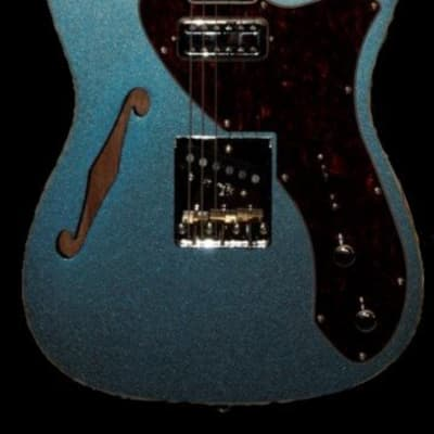 Revelation TSS - MBL Lake Blue Thinline Short ScaleElectric Guitar for sale