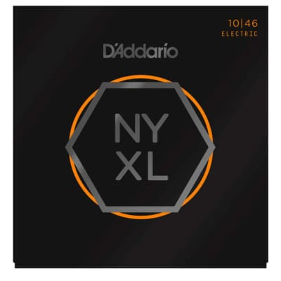 D'Addario NYXL1046 Nickel Wound Electric Guitar Strings, Medium, 10-46