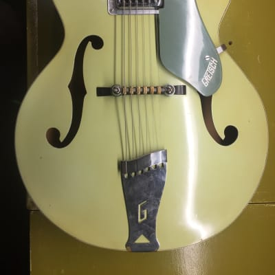 Gretsch Anniversary 1962 two tone green archtop guitar with original case