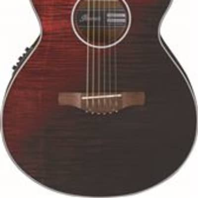 Ibanez Artwood Exotic AEWC32FM Acoustic Electric Guitar Red Sunset