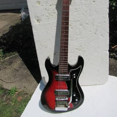Hy-Lo Guitar,  1960's, Japan, Two Pickup, Redburst, Wang Bar, Very Cool for sale