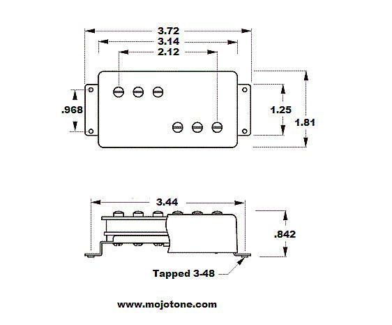 Mojotone 72 Clone Wide Range Humbucker Pickup Set | Mojotone ... on fender deluxe wiring, stratocaster humbucker wiring, single coil humbucker wiring,