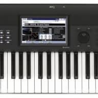 Korg Krome-61 Keyboard Workstation, 61-Key, Black