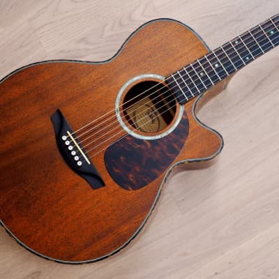Headway TF-1000C Cutaway Acoustic Electric Guitar Mahogany Near Mint w/ Case for sale