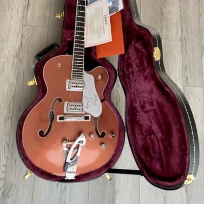 Gretsch Gretsch G6136TSL Two Tone Copper/Sahara Metallic Falcon Limited Edition Guitar with case