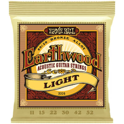 Ernie Ball Earthwood 80/20 Bronze Acoustic Guitar Strings - Light (11-52)