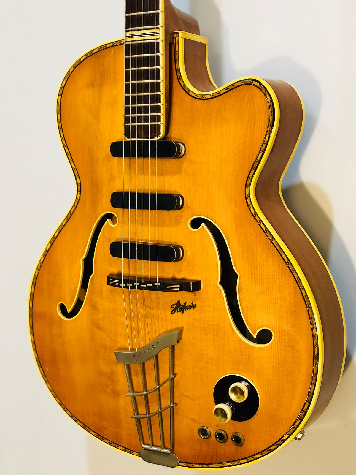 1958 Vintage Hofner 463/S/E3 Hollowbody Electric w/ Case