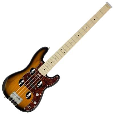Traveler TB4P Electric Travel Bass 4-String Headless 2021 Sunburst for sale