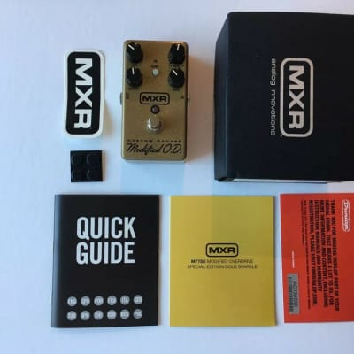 MXR M-77 Custom Badass Modified O.D. Overdrive Special Edition Gold Sparkle
