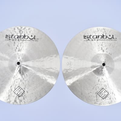 """Istanbul Agop 14"""" Traditional Jazz hihat 2021 1085gr bottom-912top"""